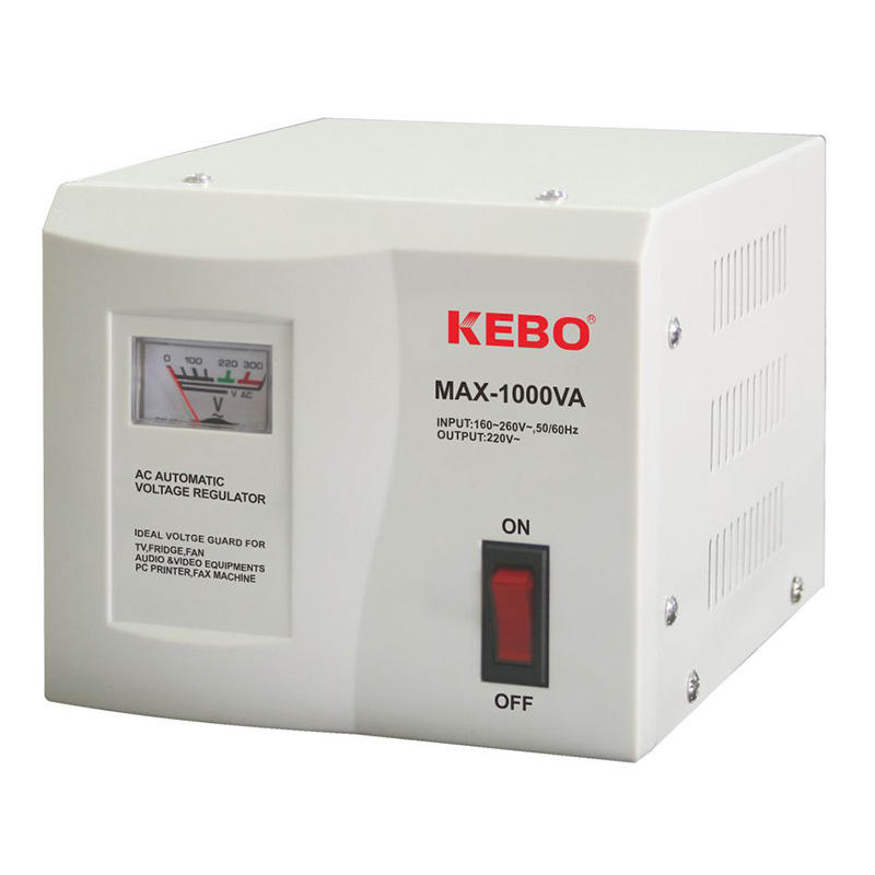 Classical Type Meter Display 220V Voltage Stabiliser MAX series with Dual Output Socket