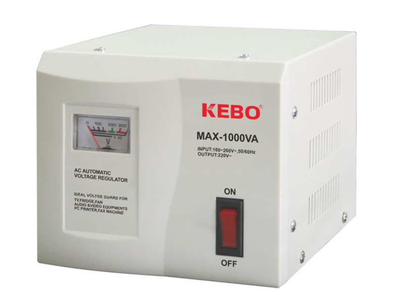 KEBO -Classical Type Meter Display 220v Voltage Stabiliser Max Series-7