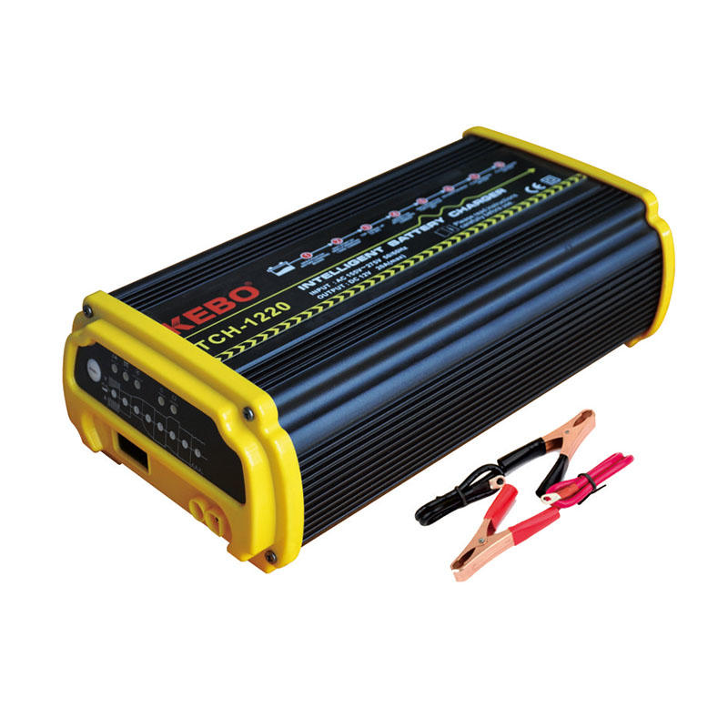 8-Steps High Frequency Intelligent Battery Charger TCH series with 12V/24V