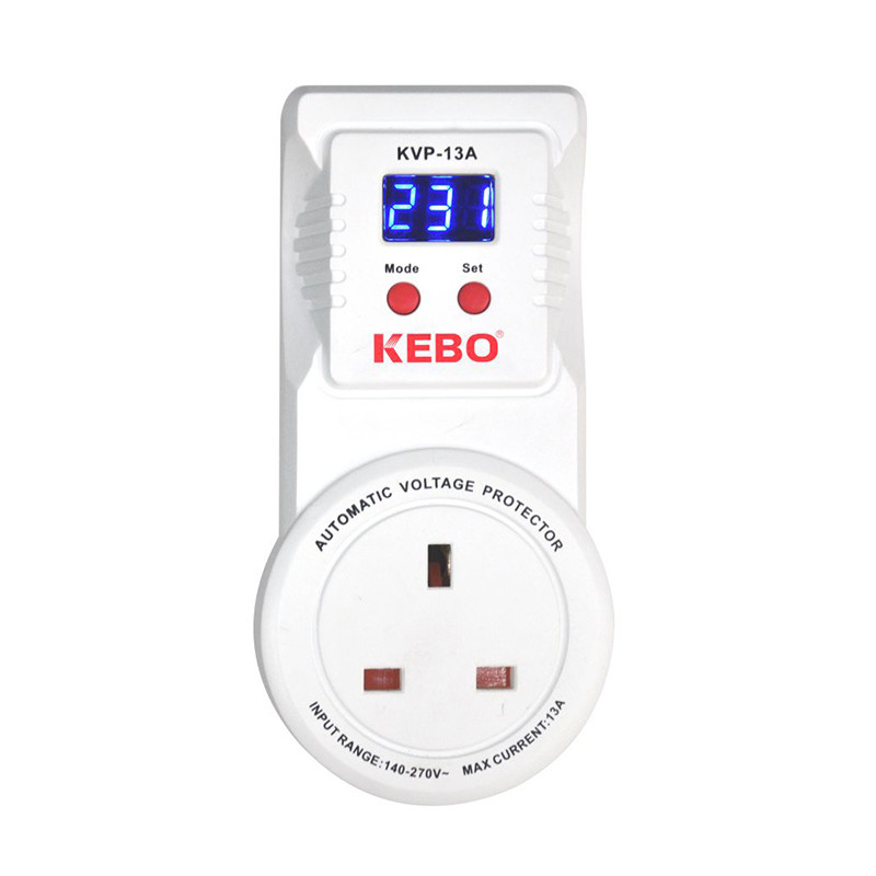 Wall Mounted Automatic Power Voltage surge Protector KVP Series 13A Easy Operation