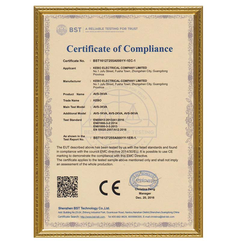 KEBO certificate electric stabilizer manufacturer for compressors-14