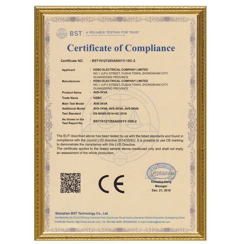 KEBO certificate electric stabilizer manufacturer for compressors-15