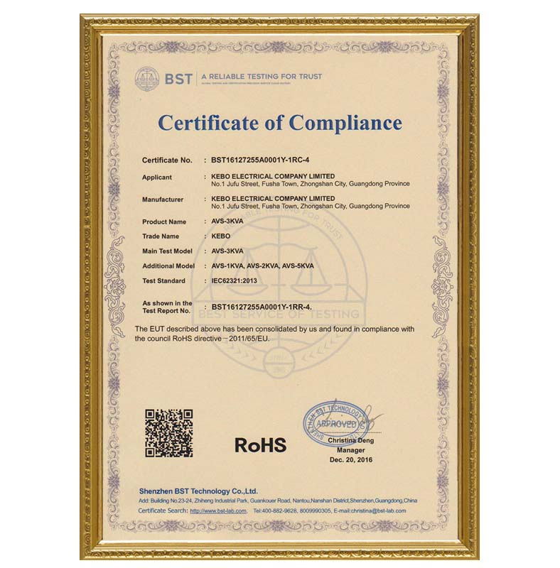 KEBO certificate electric stabilizer manufacturer for compressors-16
