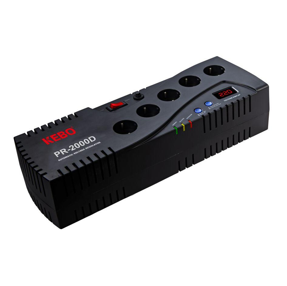 LED Display Automatic Voltage Regulator PR series with 4 Output Sockets