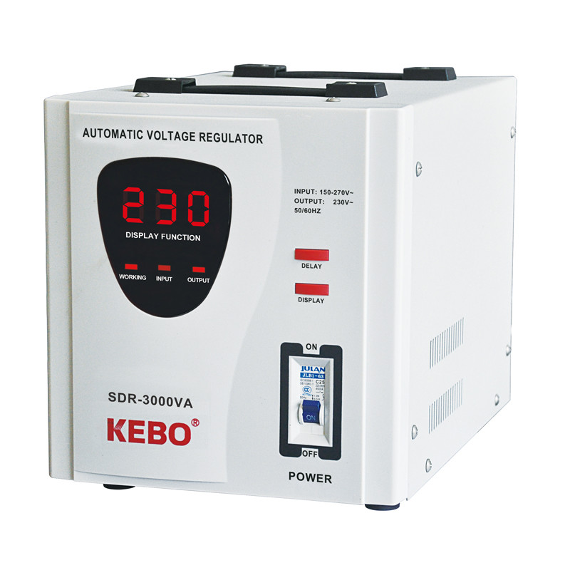AC Automatic Voltage Regulator SDR Series Relay Type Stabilizer with LED Display CE Approved