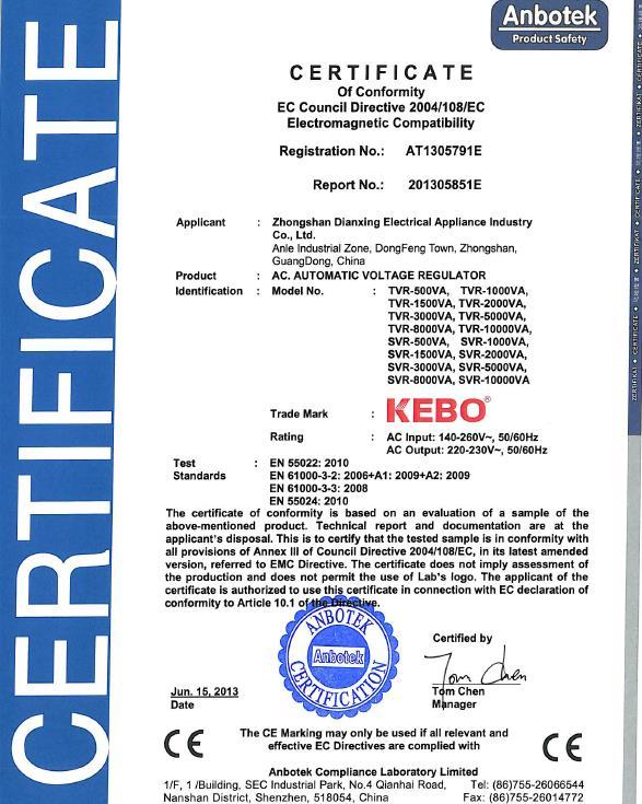 system max KEBO Brand voltage stabilizer for home factory