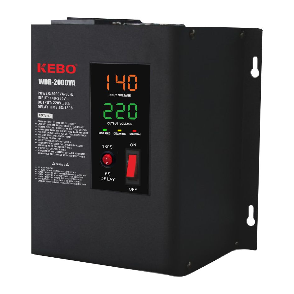 KEBO -High-quality Ac Stabilizer | Full Metal Wall Mounted Automatic Voltage Regulator Wdr 0-1